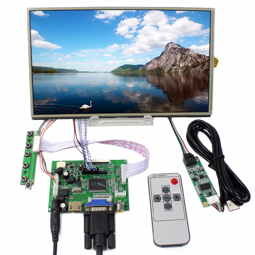 HDMI VGA 2AV lcd control board+10.1inch B101XAN01 1366*768 IPS lcd With touch screen hdmi vga 2av lcd controller board with 7inch n070icg ld1 39pin reversal1280x800 ips touch lcd