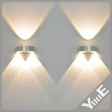 Cubierta 3 W llevó la lámpara de pared AC110V / 220 V dormitorio decorar blanco frío / caliente blanco / luz amarilla envío gratis