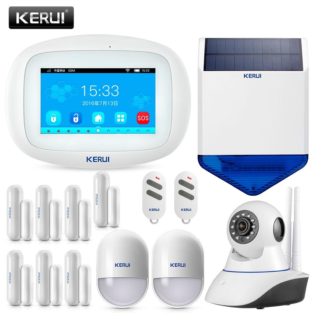 KERUI K52 Wifi GSM Alarm Systems Security Home GSM 4.3 Inch TFT Color Wireless Burglar Alarm System APP Control Alarma Casa