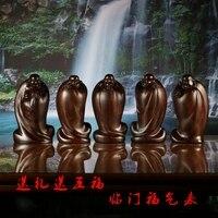 Из чёрного дерева резная Будда Майтрейя пять благословений спустились на украшение дома перед благом Maitreya