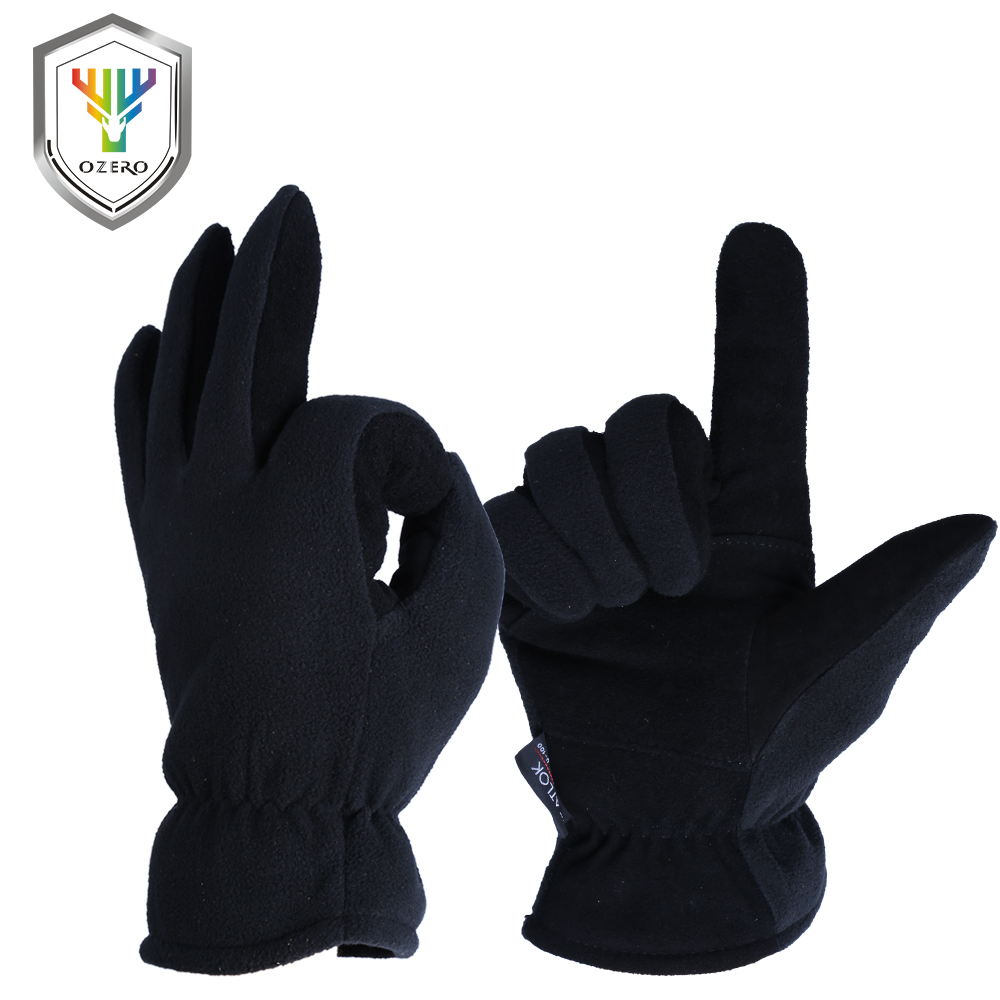 Leather work gloves china - Ozero Winter Warm Gloves Men S Work Driver Windproof Security Protection Wear Safety Working For Men S Woman