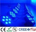 Cree led plana slim par tri 7 luz maunal usuário led luxo 3/7 canais dmx led plana par luz