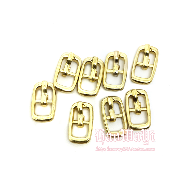 Mini Bjd Dolls Shoes Clothes Belts Bag Metal Button Three Lines Pin Buckle,20pcs