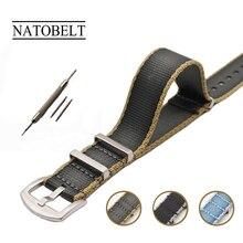 20 22 мм хаки/серый НАТО ремешок для армейские спортивные часы нейлон ремешок часов на часы для James Bond часы