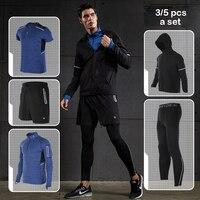 Vansydical Sport Suit Men Sweater Underwear Fitness Men S Run Sportswear Basketball Training Jogging Tracksuit Gym