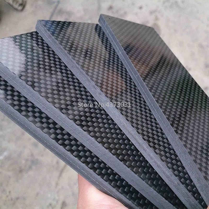 1piece 3K Carbon Fiber Board For DIY Knife Handle Material Twill Produce Material