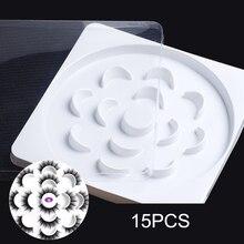 лучшая цена 15 Pcs Empty Eyelash Box Eyelash Packing Box Empty Cosmetic Container false Eyelash protection case with Transparent Covers