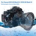 Mcoplus 40 м 130 футов камера для дайвинга водонепроницаемый корпус для подводного использования чехол для Canon EOS 5D Markiii 5D Mark IV