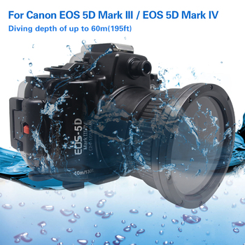 Mcoplus 40m 130ft Diving Camera Waterproof Underwater  Housing Case for Canon EOS 5D Markiii 5D Mark IV