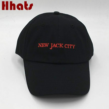 which in shower rapper black stitched NEW JACK CITY baseball cap embroidered women men curved snapback dad hat bones male female