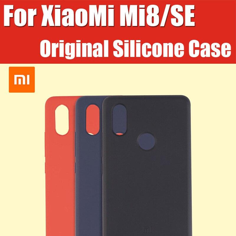 Mi8 Explorador Edição oficial 100% Original Xiaomi Silicone Caso Mi8 Snapdragon 845/710 Mi8se Mi8 Mi8 comparecimento da Impressão Digital Tela Pro