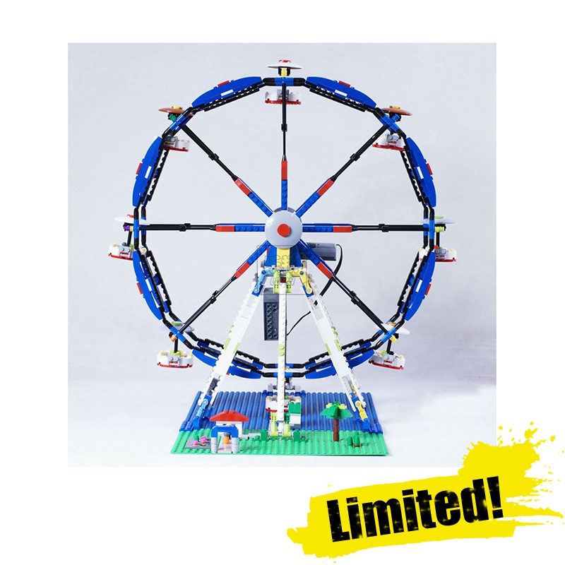 LEPIN 15033Classic Ferris Wheel Street View Creator Building Blocks Bricks Toys Enlighten For Children Compatible with legoINGly 2017 enlighten city bus building block sets bricks toys gift for children compatible with lepin