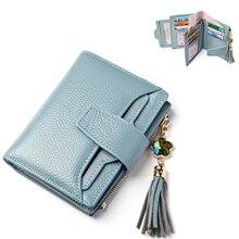 LANVERA Solid Women Purse Genuine Leather Wallets Women   Fashion Moeny Wallets Short For Girls Brand Design  portefeuille femme