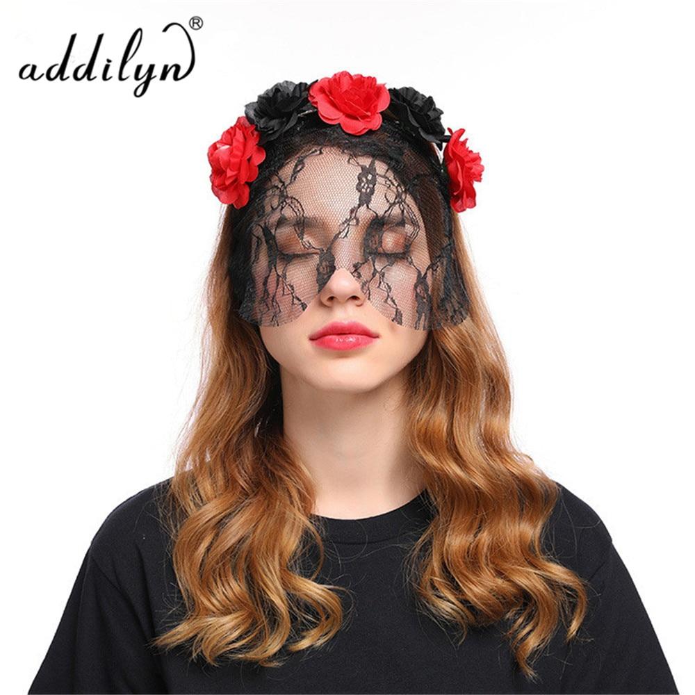 halloween hair band black flower hairbands halloween headbands satin