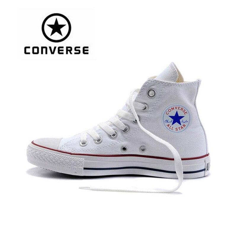 Новое поступление первоначально Converse классический унисекс, парусиновая Скейтбординг обувь с высоким берцем анти-скользкие Sneaksers Classique