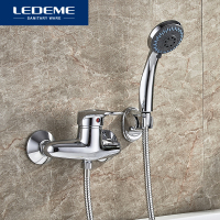 LEDEME Bathroom Bathtub Faucets Bath Shower Faucet Mixer Tap With Hand Shower Head Shower Cold Hot