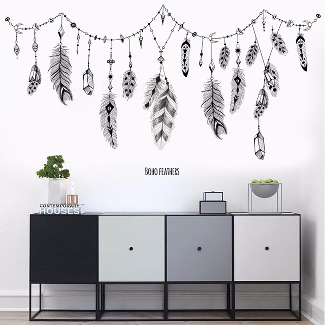 Boho Feather Wall Stickers 6