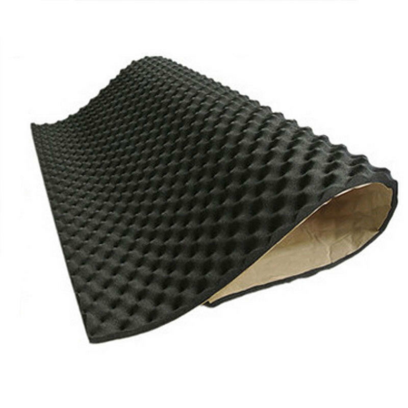 Deadener Noise insulation Mat Foam Proofing Carpet Dampening Black Sound Acoustic 50*50*2cm High quality Reliable