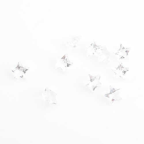 5mm white star birthstones floating charms , fit Floating charms FS1021 ,10pcs/lot