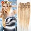 Clip Ins Brazilian Virgin Hair Extension Clip In Full Head Virgin Remy Hair Clip In Blonde Real Human Hair Extensions