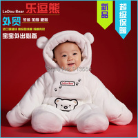 new 2016 autumn winter romper baby clothing newborn Thick cotton Rompers baby boy / girl warm cartoon bear jumpsuit baby costume