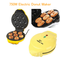 1PC 750W Two Side Heating Full Automatic Electric Donut Waffle Maker Egg Cake Making Ball Mould