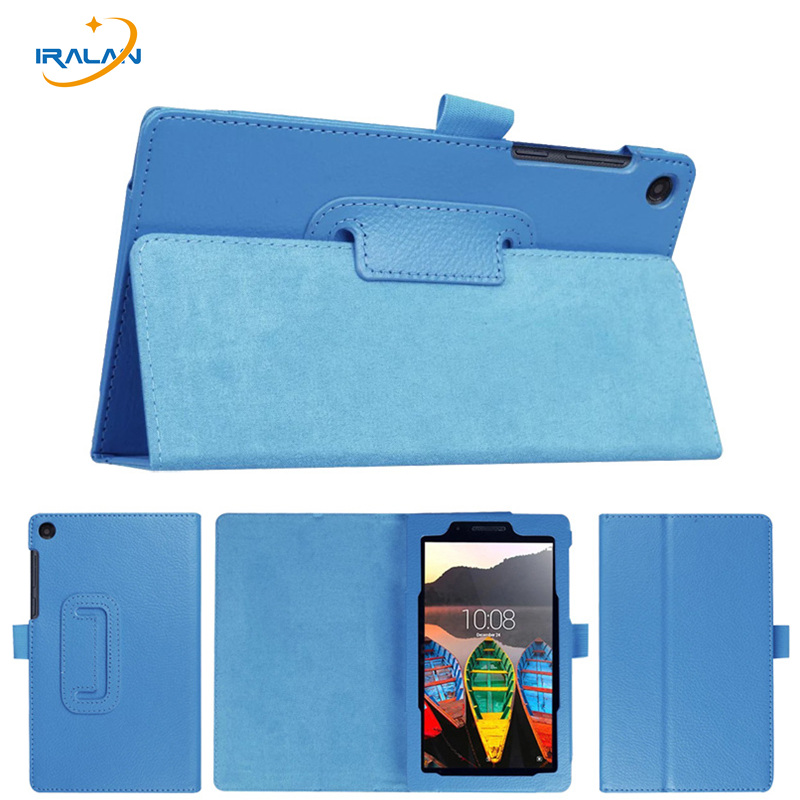 Litchi PU Leather Folio Case For Lenovo Tab 3 7 Essential 710F 710L Stand Protective Cover For Lenovo TB3-710F 7.0 inch+stylus
