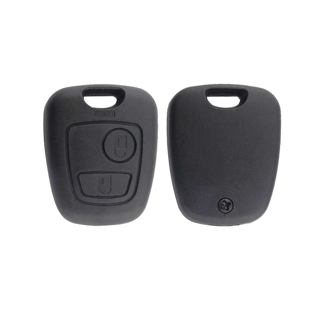 OkeyTech для peugeot, 2 кнопки, без ключа, для дистанционного управления автомобилем, брелок, без лезвия, авто чехол для peugeot 307 407