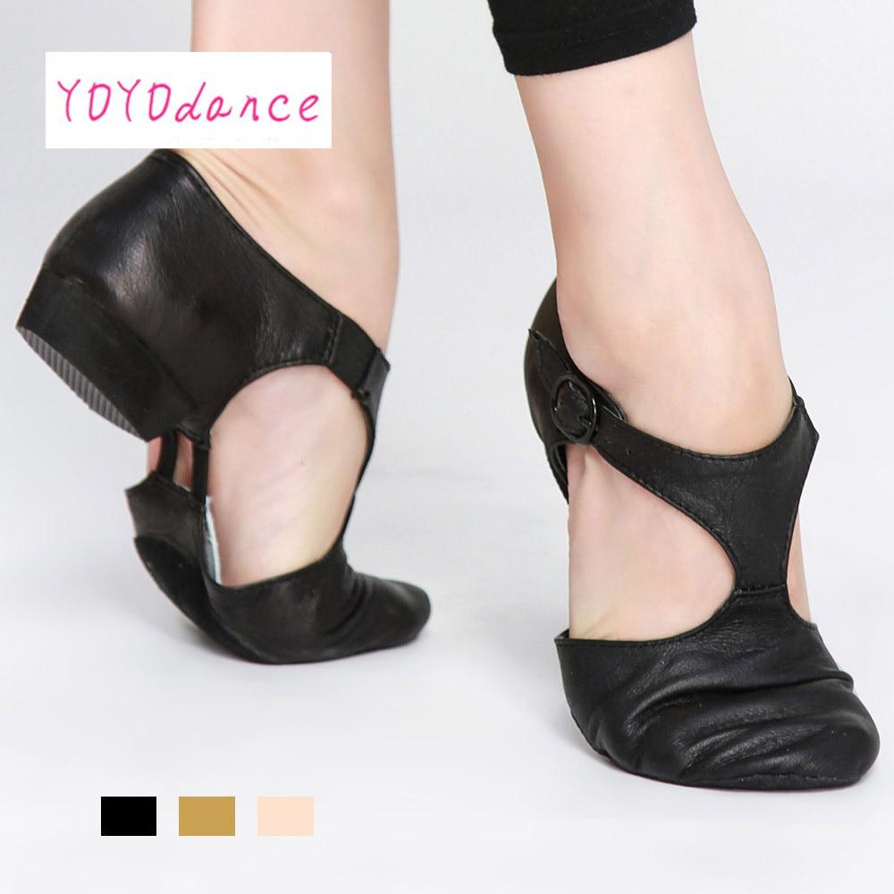 Hot Sale נעלי עור מקוריות לילדים למבוגרים למורים סנדלים מקצועיים נעליים ג'אז דאנס נעליים סין ג'אז דאנס סנדל