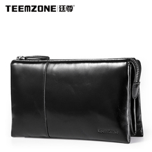 Teemzone Men Wallets Brand Mens Wallet Leather Genuine Cowhide Men's Clutch Bags Hot Business Casual Purses And Handbags Man Bag