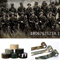 Tactical 4Roll 4.8cm*500cm Camo Stretch Bandage Camping Hunting Camouflage Tape for Cloths Digital stealth camouflage tapes