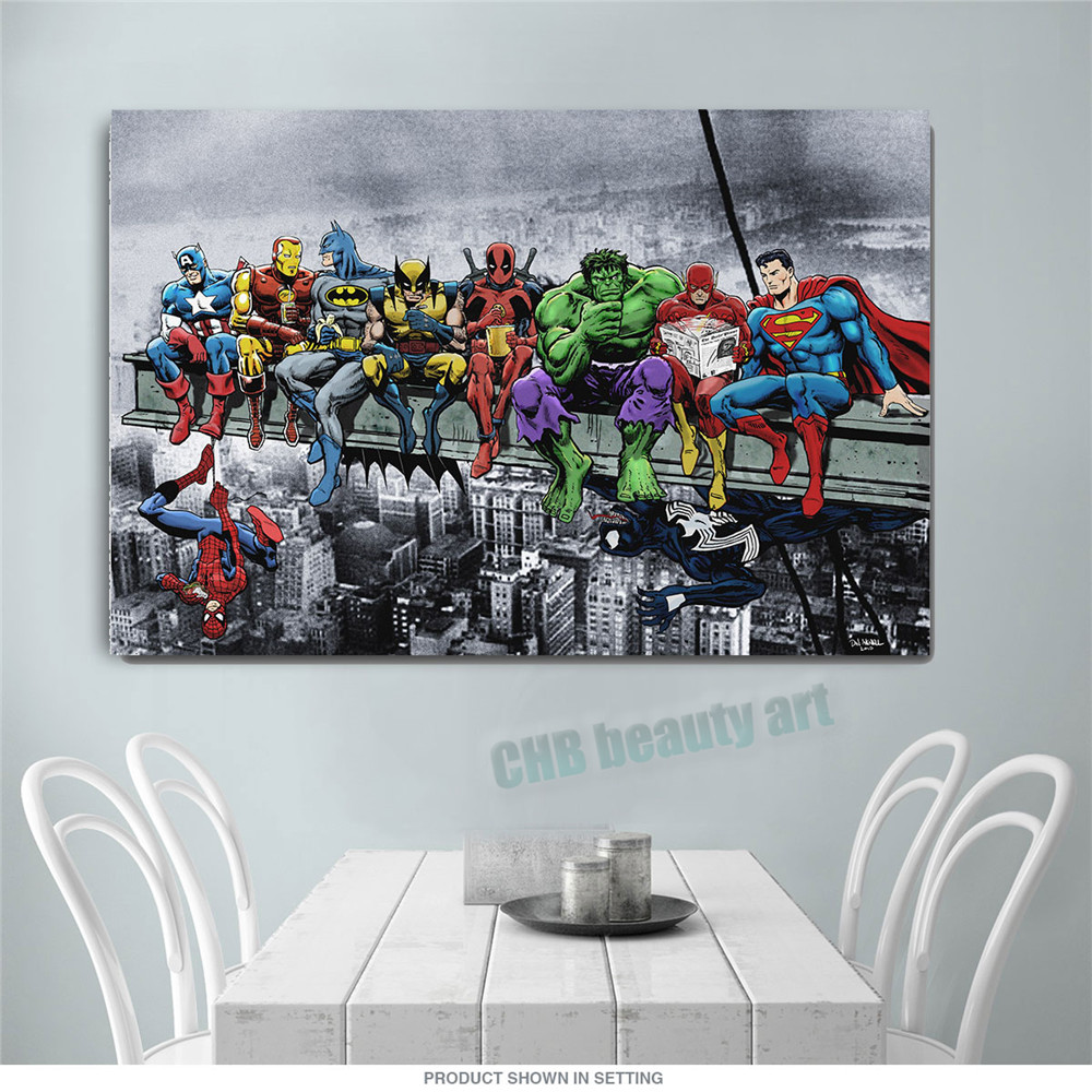 2017 Pop Art Print Canvas Wall Art Decoration Painting Wall Picture For Living Room Lunch Atop A