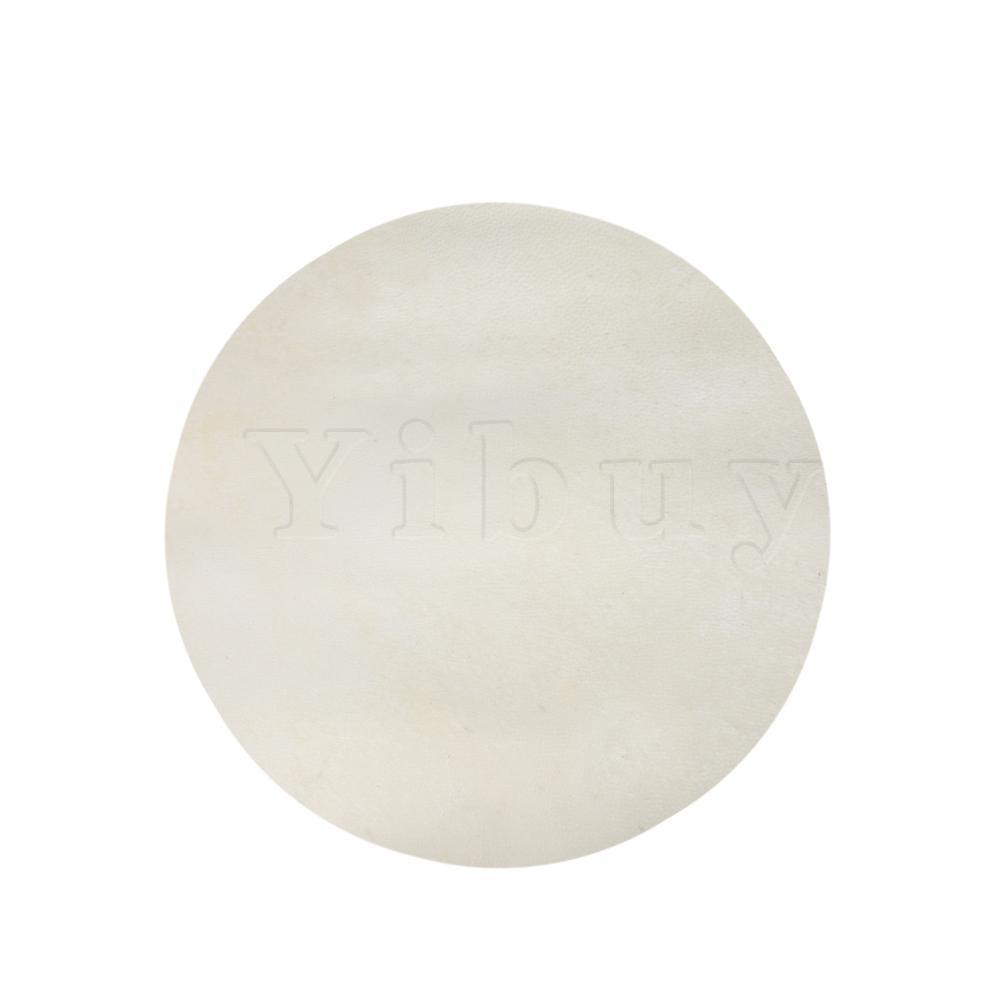 Yibuy 30cm Diameter Beige Goat Skin Drums Head Goatskin Round Fits Bongo Drums / Shaman Drums / 8 Inch African Tambourine
