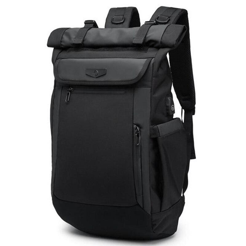 OZUKO New Men Backpack Waterproof Multifunction USB Charging Designer Laptop Backpacks For Teenager Fashion Schoolbag Travel-in Backpacks from Luggage & Bags    1