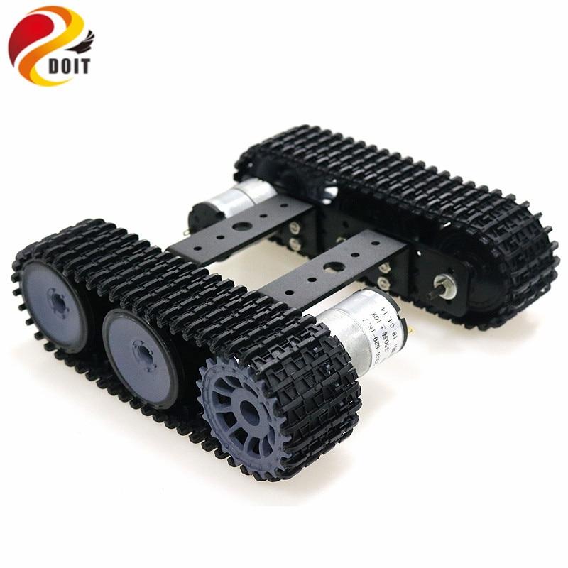 Mini TP100 Aluminum Alloy Tank Robot Chassis Caterpillar Platform With 12V 350rpm Motor DIY Arduino Unassembled Kit