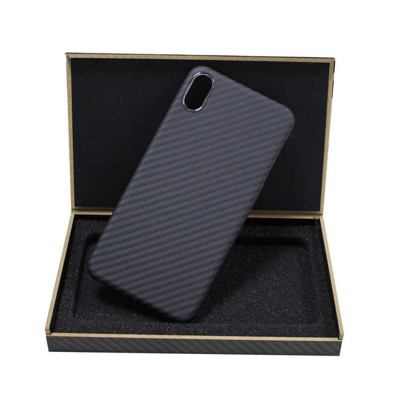 كيفلر ريال نقية ألياف الكربون رقيقة جدا حقيبة هاتف محمول قذيفة آيفون 7 8 plus X S R 11 برو ماكس الأعمال الصعبة غطاء الهاتف