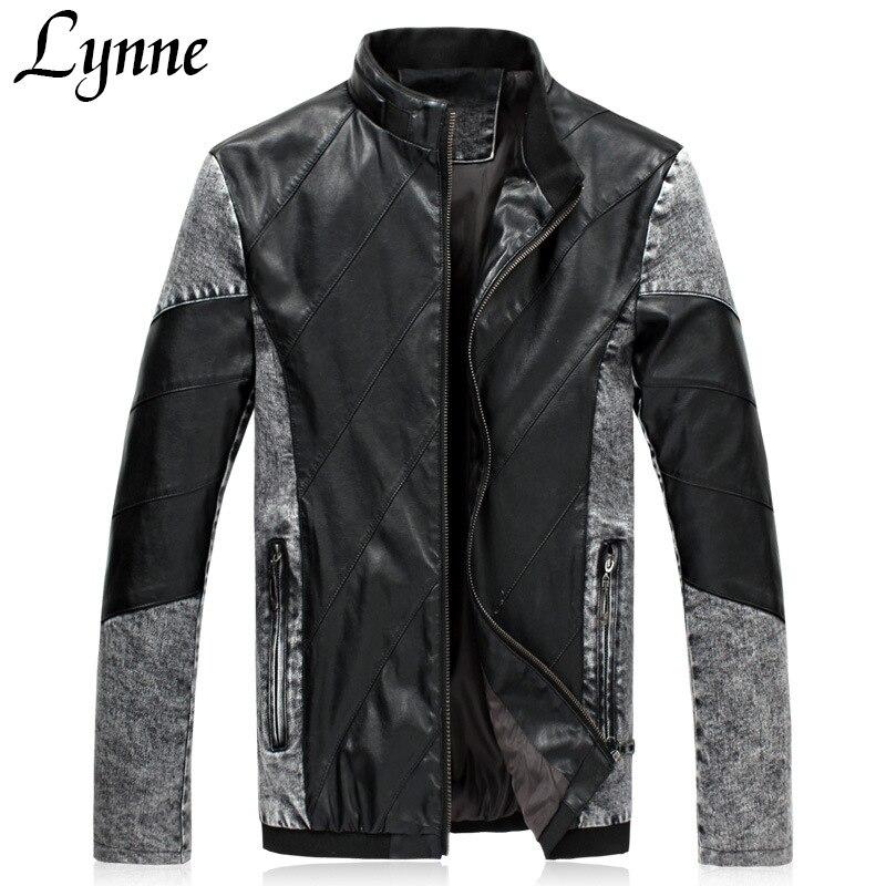 2015 Mens Winter Coat Fashion Slim Black Mandarin Collar