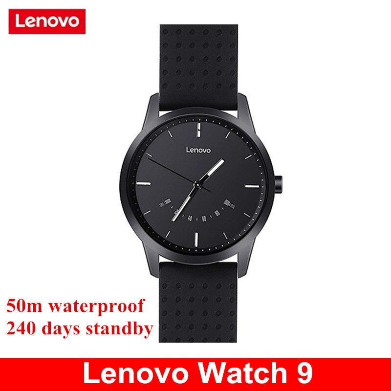 Reloj inteligente Lenovo Watch 9 Bluetooth Smartwatch Fitness Tracker 50 m impermeable cronómetro reloj inteligente para IOS Android 240 días de espera