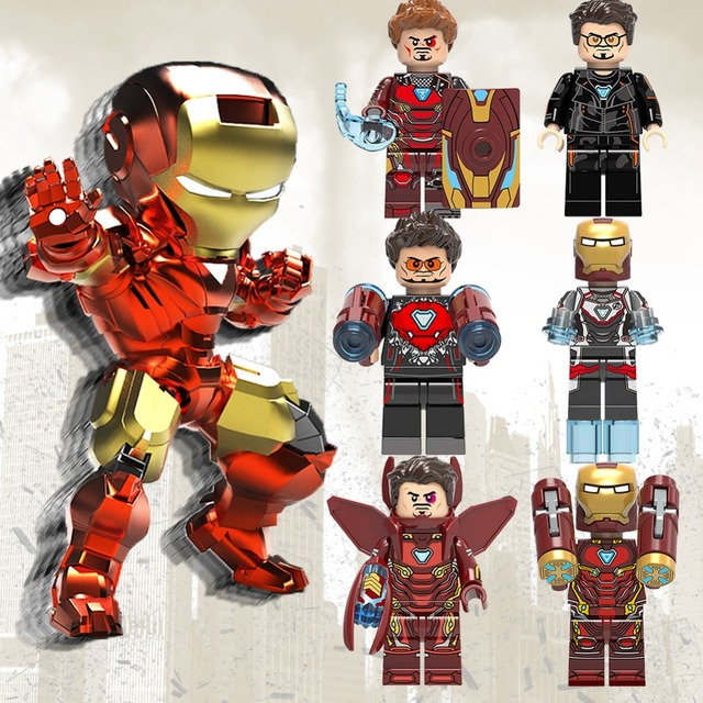 Endgame LegoING Marvel Avengers Ironman Capitão América Spiderman Hulk Guerra Machine Building Blocks brinquedos bricks compatível Legoes