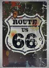 1 pc Route 66 US USA Road Car garage room shop Tin Plate Sign wall plaques Man cave vintage Dropshipping metal Poster