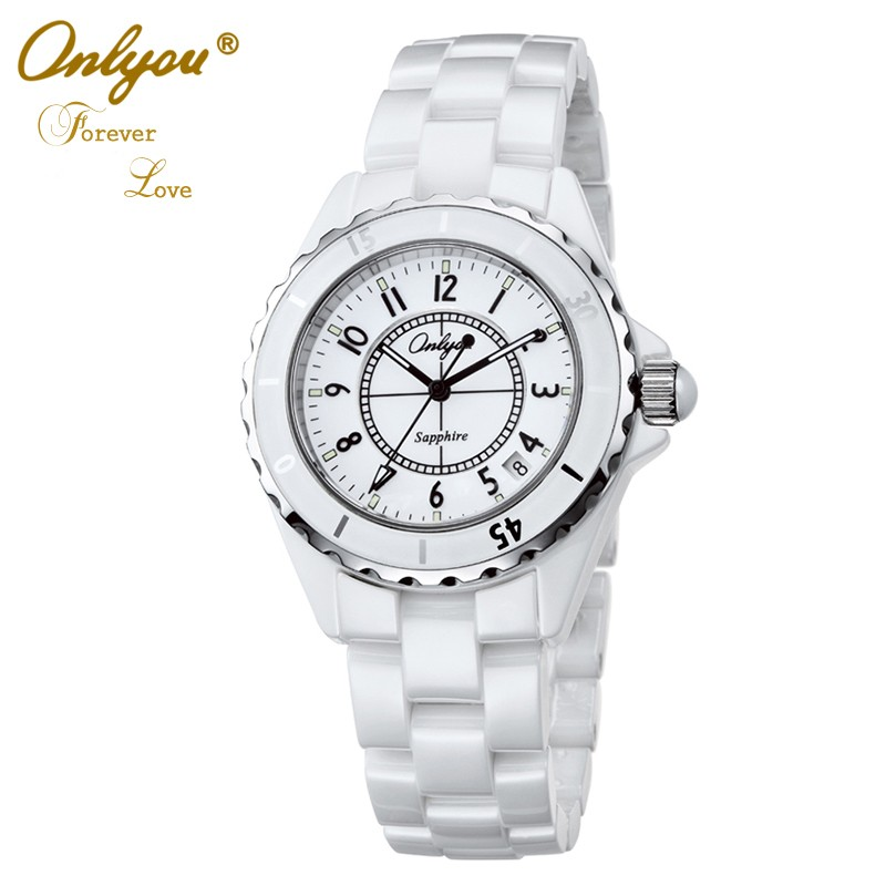 ФОТО Onlyou Top Brand Luxury Ceramic Watches For Women Men Quality Quartz Watch Fashion Ladies Dress Watch 6901