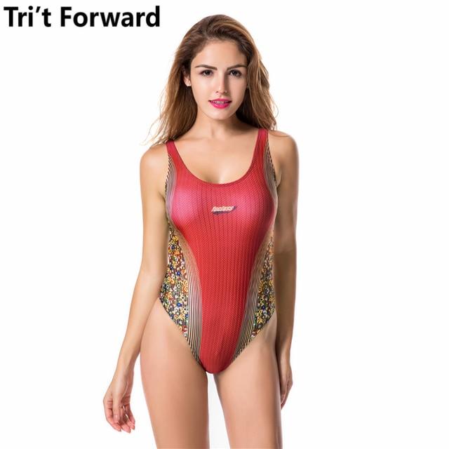 6b6747212f9ef Tight Bodysuit Sports One Piece Swimwear 2017 Backless Bathing Suit  Professional Swimsuit Sexy Push Up Swim Wear Women Beachwear