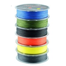 2014 New Fighter Brand Multifilament PE Braided Fishing Line Carp 100m Super Strong 4 Stands 8/10/20/30/40/60LB Free Shipping