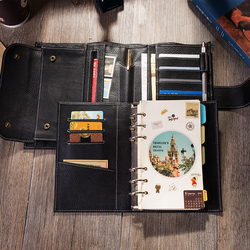 2019 Travel Journal Lederen Notebook met Ringband Beste Gift Voor Mannen Vrouwen Persoonlijke Organisatoren Dagboek Planner Te Schrijven In a6