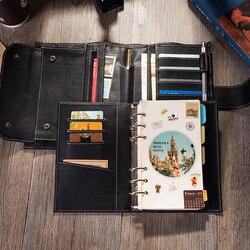 2019 reise Journal Leder Notebook mit Ring Binder Beste Geschenk Für Männer Frauen Persönlichen Veranstalter Tagebuch Planer Zu Schreiben In a6