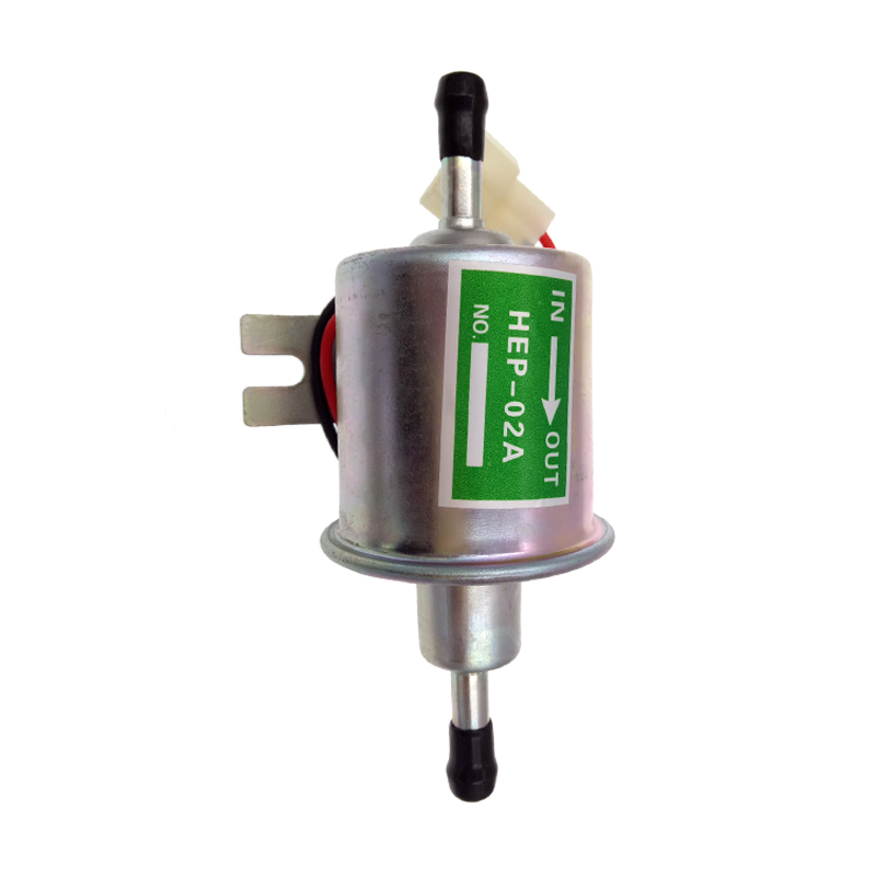 High Qulity diesel petrol gasoline 12V electric fuel pump HEP-02A low pressure fuel pump for carburetor, motorcycle , ATV promotion lowest price high performance 12v electric fuel pump for jaguar color for head red black green