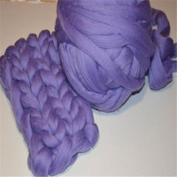1000g/piece 21 microns Giant Yarn knitting wool extreme knitted merino wool DIY knit blanket super chunky wool yarn