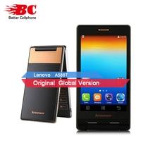 Original lenovo A588T MTK6582 Quad Core Flip Phone Smartphone 512MB RAM 4GB ROM Dual Sim 4.0 Inch 5MP camera Russian language