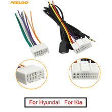 Wiring-Harness-Adapter Radio Car-Audio Cd-Stereo FEELDO with Usb/Aux-Plug for K5/sportage-R