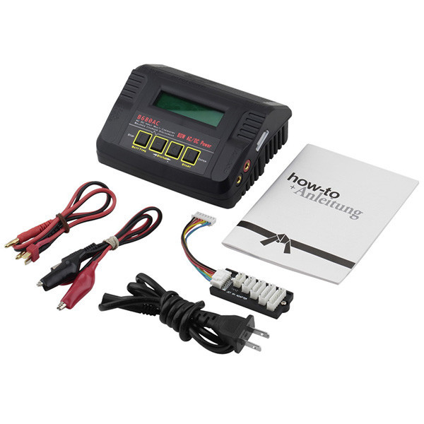 B680AC 80W 6 Amp AC / DC Dual Power LiPo Balance Charger for RC Helicoptor airplanes+US,EU,UK,AU,power supply line браслет power balance бкм 9652